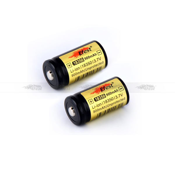 Efest 18350 900mAh 3.7v protected rechargeable battery flat top with PCB best for K100/K101/SVD/Vamo ecig Mod PK MNKE battery