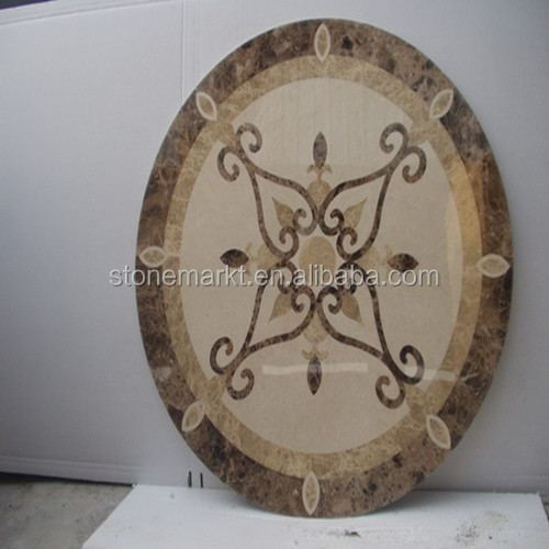 Modern style natural stone marble tile floor medallions for living room