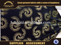 Fullgold Textile Placement Hot Stamping Gold Foil Printed FDY Bronzing Fabric