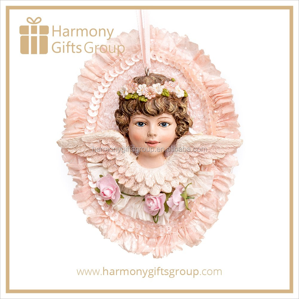 ODM OEM China Supplier Fabric Christmas Baby Angel with White Wings Souvenir