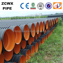 Black hdpe corrugated dwc pipe