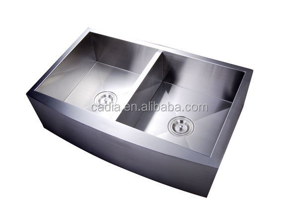 Design new products Double bowls 838X535X254mm Top mounted granite kitchen sink