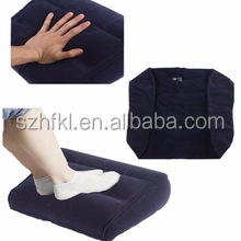 Navy Inflatable Travel Leg Up Foot Rest Back Pain Footrest Pillow Recliner Cushion wholesale
