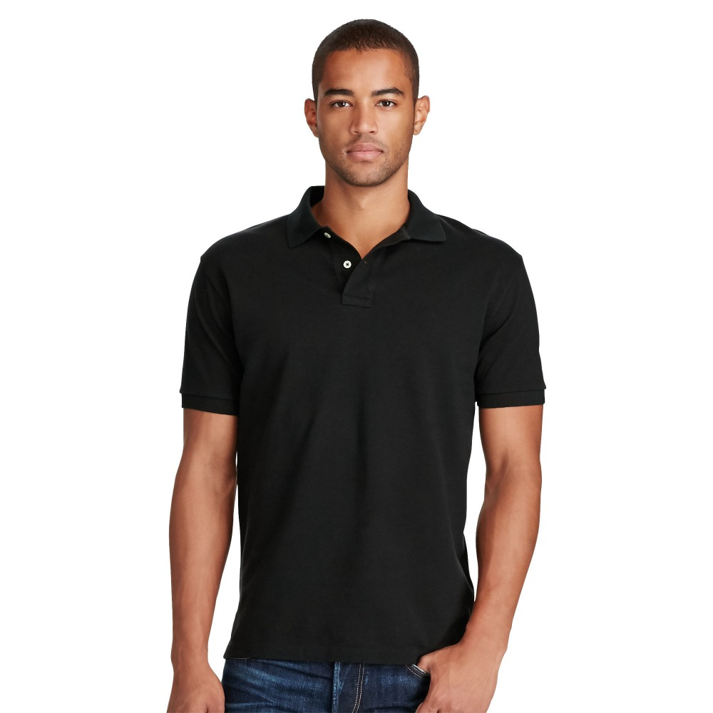 2017 New Design Men Golf Black Polo T Shirt Factory with Cotton
