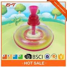 Newly design hand push plastic led spinning top for sale