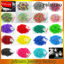PRIMERO Colorful Gifts fun rubber loom bands box set make rubber band dIY loom charms bracelet silicone kit refill