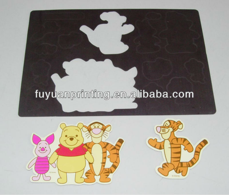 Tigger design Custom personalized design magnetic fridge stickers for promotion