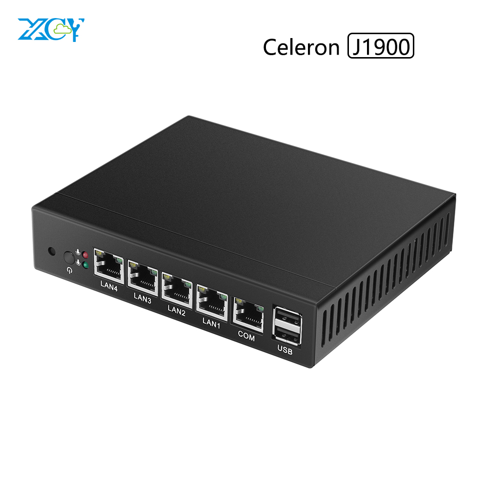 XCY Portable mini pc celeron J1900 quad core 2.0Ghz Fanless multi Lan pfsense 2G Ram 32G SSD