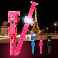 2016 New arrival super mini size beauty and filled in LED light selfie stick for iPhone, Samsung, LG etc