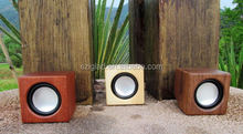 Manufacturer cube mini powered amplifier Leisure mobile phone Wooden Speaker