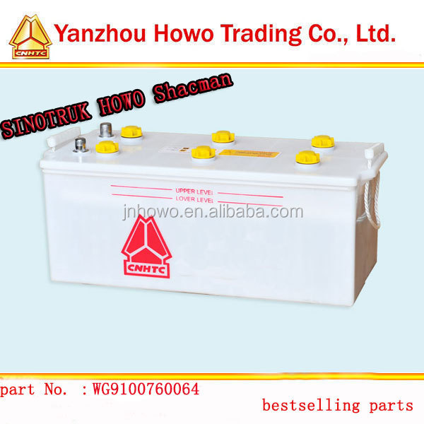 sinotruk howo parts car battery 12V for sale