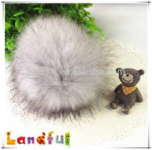 11cm Faux Fox Fur Pompom Plush Keychain Knitted Hats Fur Pompom