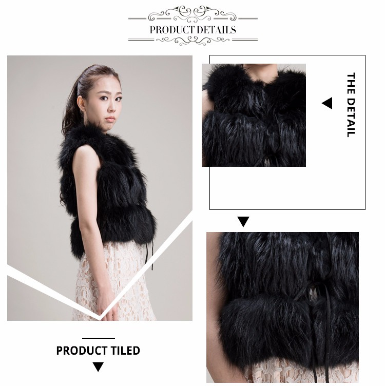 Latest simple design purple fur vest womens jacket fluffy gilet