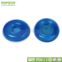 Hospital Viscoelastic Polymer Gel Position Pads in Operations Round Blue PU Gel Head Positioning Medical Head Pillow Pads