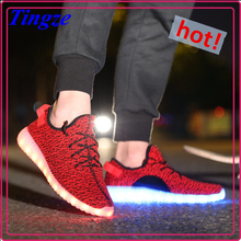 New Style Colorful Led Sneakers Running Light Up Men Led Shoes 2016 Shoes Men Sport