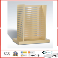 Wooden display rack - slatwall display rack