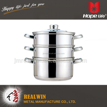 18-30cm food steamer 4pcs stainless steel commercial food steamer with 3 layers pot