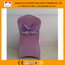 2012 modern newest banquet ribbon jacquard chair cover