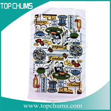luxury flower anti static clean printed kitchen towel