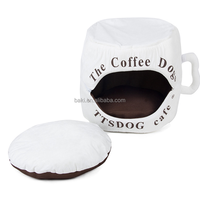 2016 New Arrival Dog Cat Kennel Cute Coffee Cup Style Designer Dog Bed Soft Warm