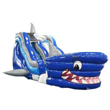 high quality cheap inflatable shark water slide