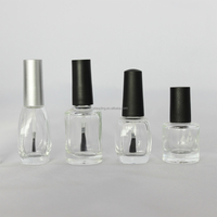3ml 10ml glass empty nail polish bottle with brush
