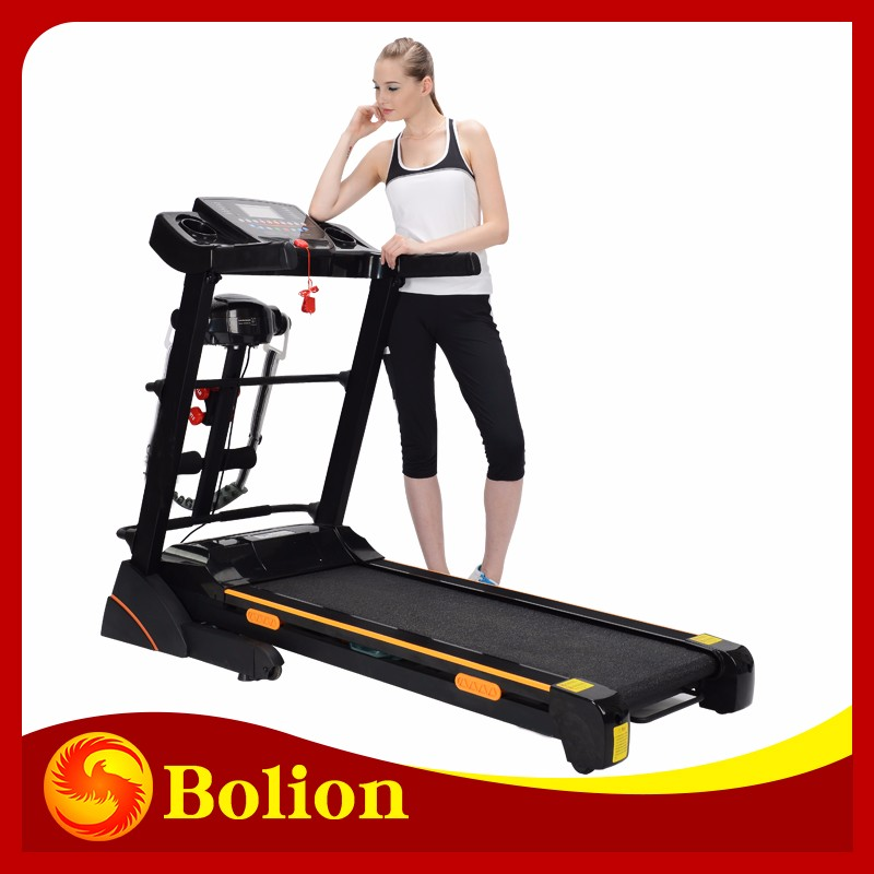 electric motorized multifunctional with 5 inch screen club gym cross trainers running machine mounted butterflies for sale/