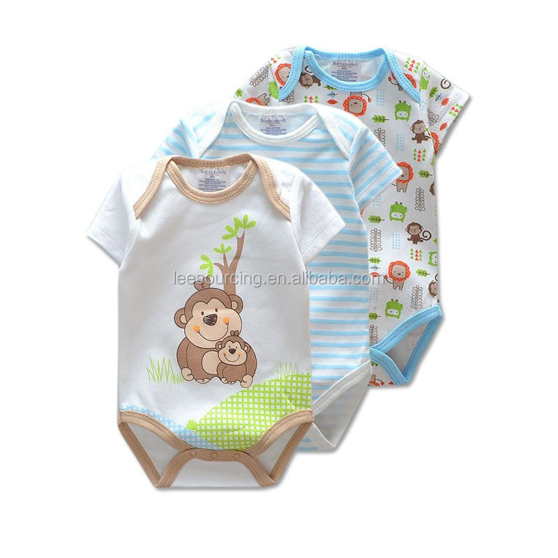 Wholesale short sleeve cotton infant and toddler clothes romper
