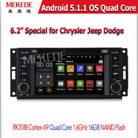 Quad Core 1.6G Android 5.1.1 Car DVD GPS Radio Player For Jeep Grand Cherokee Compass Commander Wrangler Unlimited DODGE Caliber