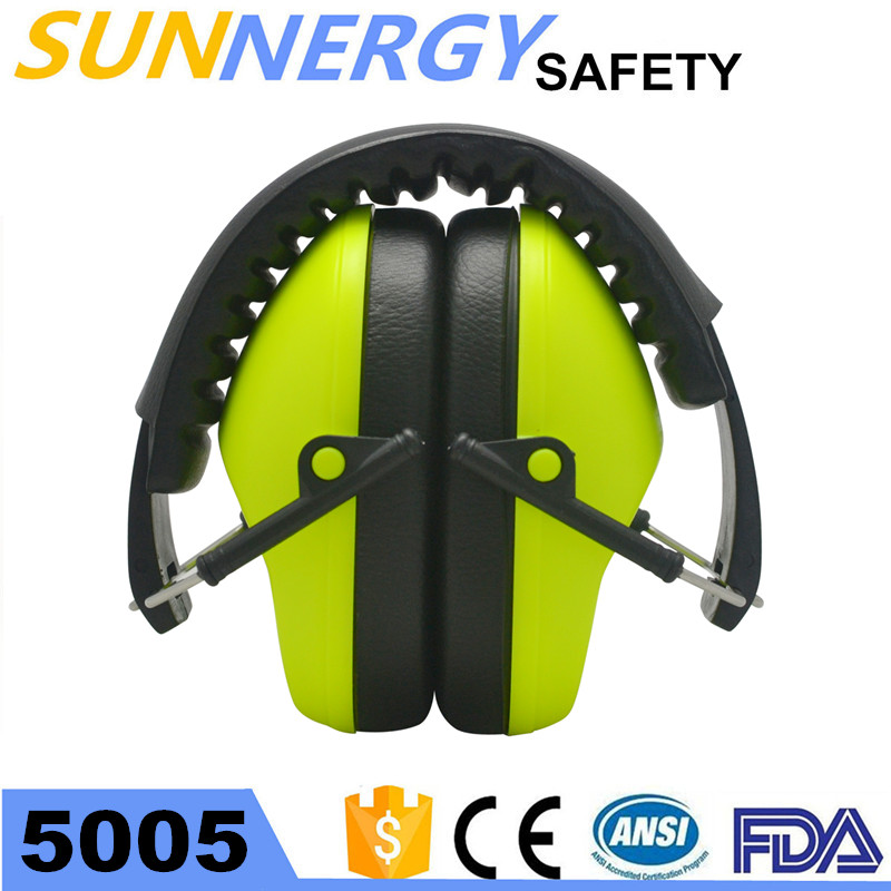 Promotional Electronic Earmuff with rubber band in the color box