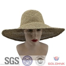 Cheap fashion ladies straw hats plain hat