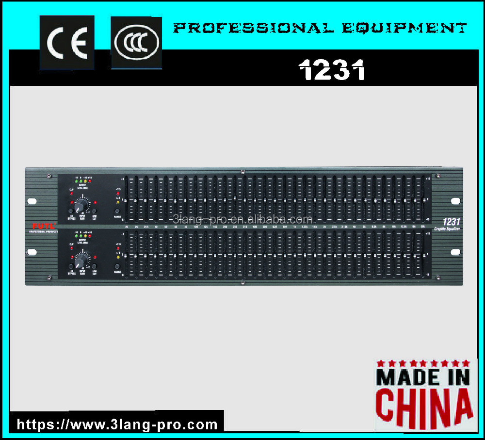 1231 Professional 2 Channel Stereo Electronic Graphic Equalizer