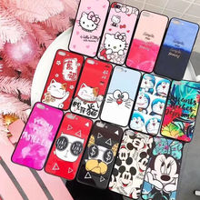 2018 shockproof tpu frame tempered glass back cover mobile phone case for iphone X 8 7 6 plus glass phone case with dog patten
