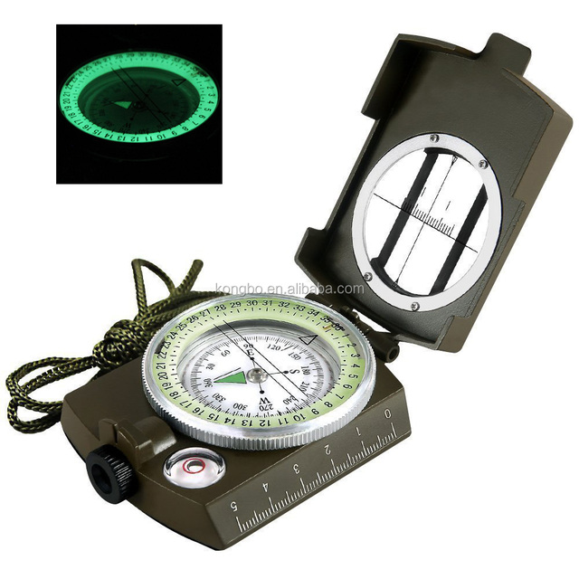 KongBo Outdoor Multifunctional Military Army Aluminum Alloy Compass with Map Measurer Distance Calculator