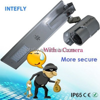 All in one 70 watt solar ip camera with led street light