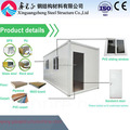 20 feet flat pack container home movable houses for sale