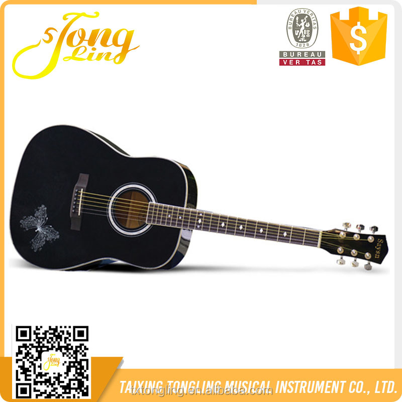 Handmade Solid Wood Cheap Price Guitar For Sale (TL-0046)