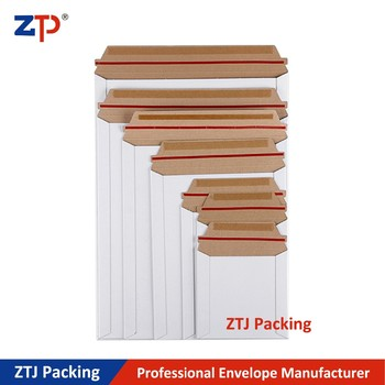 6*8 inch standard size recycled cardboard envelopes rigid flat pack