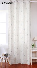 spring birds printed design, linen printed fabric curtain for kid room