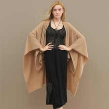 Multiple use colourful high quality female 100% cashmere knitted poncho scarves shawls for women