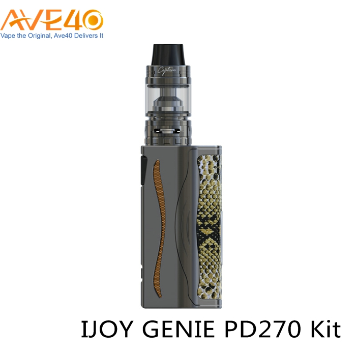 New Smoking Vape Mod Ijoy Genie PD270 with Captain Atomizer for Vaping Box Mod
