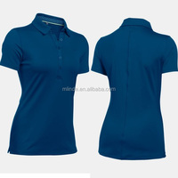 T-Shirt Polo Honeycomb Pique Yarn Dyed Double Mercerized 100% Pima Cotton 210gsm 220gsm Women's Golf Custom Polo Shirt
