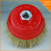 PEGATEC 150x32MM BRASS WIRE CUP BRUSH FOR WELDING