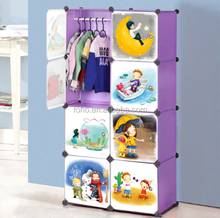 Creative kids plastic small simple portable wardrobe