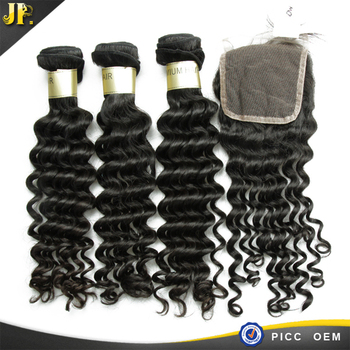 3 bundles with a closure brazilian top quality hair