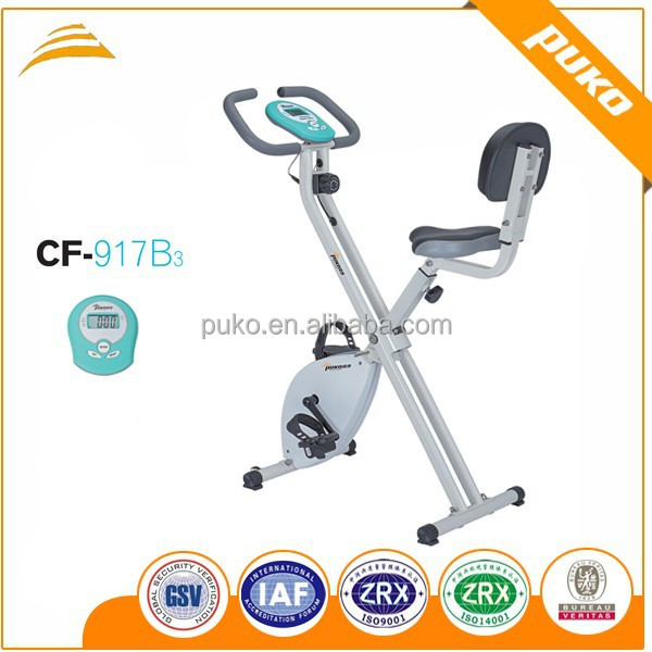 Indoor equipment outside magnetic white frame backrest exercise bike