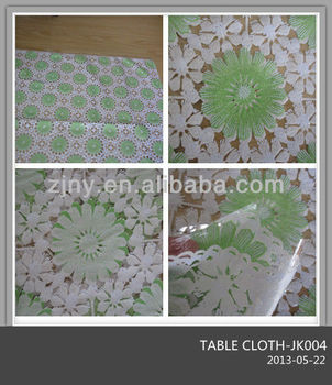 PVC clear colorful 0.10mm Table Cloth $1.39 per meter