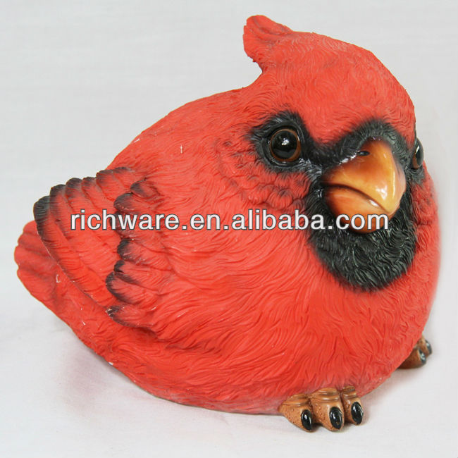 Polyresin hot selling red bird