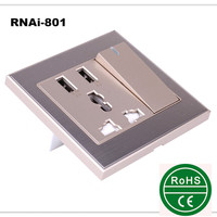 New Design Free sample /promotion euro usb wall socket 220v usb wall outlet