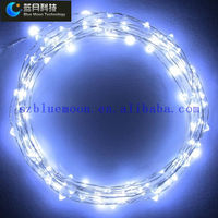 Led high temperature solar christmas light led copper wire string light